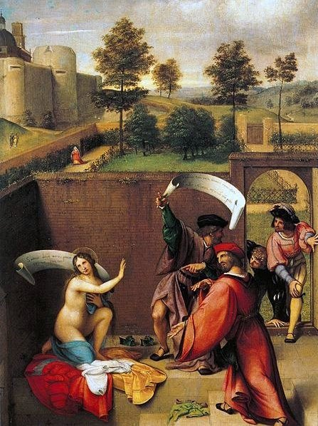 Lorenzo Lotto, Susanna im Bade